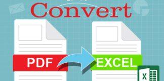 Convert PDF To Excel